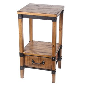Minidoka 1 Drawer End Table by Loon Peak