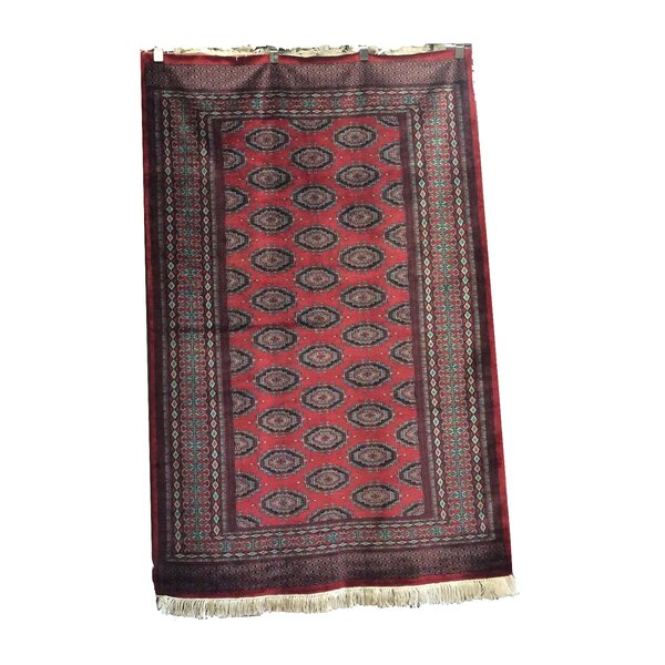One-of-a-Kind Eowyn Hand-Knotted Wool Red Area Rug by Bloomsbury Market