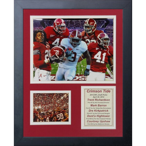 2012 Alabama Crimson Tide National Champions - Draft Picks Framed Memorabilia by Legends Never Die