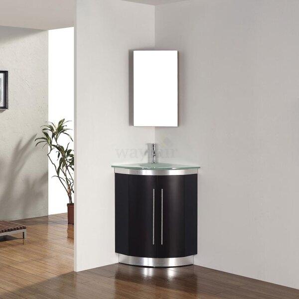 Diara 31 Single Corner Bathroom Vanity Set with Mirror by Bauhaus Bath