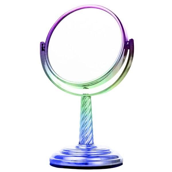 Kowalewski Holographic Spiral Stem Midi Makeup/Shaving Mirror by Zoomie Kids