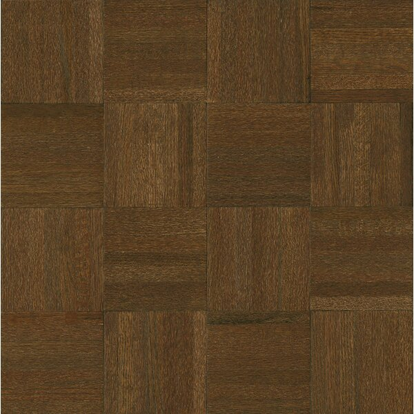 Millwork 12 Solid Oak Parquet Hardwood Flooring in Cocoa Bean by Armstrong Flooring