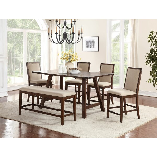 Chandeleur 6 Piece Counter Height Dining Set by Darby Home Co