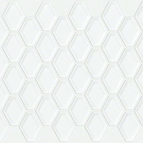 Sophisticated Porcelain Mosaic Tile in White by Shaw Floors
