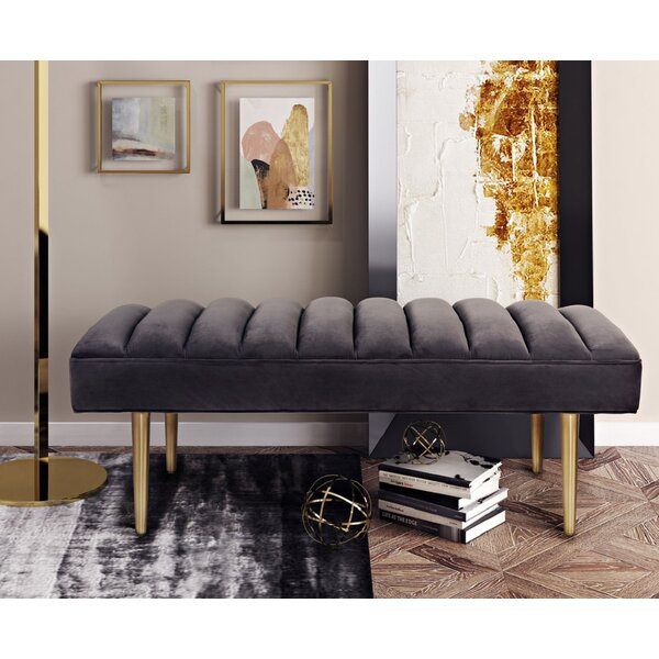 Kathi Upholstered Bench by Everly Quinn