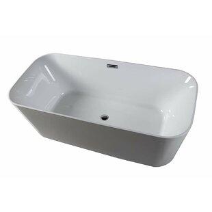 Comparison Lyon 59 x 29 Freestanding Soaking Bathtub ByDyconn Faucet