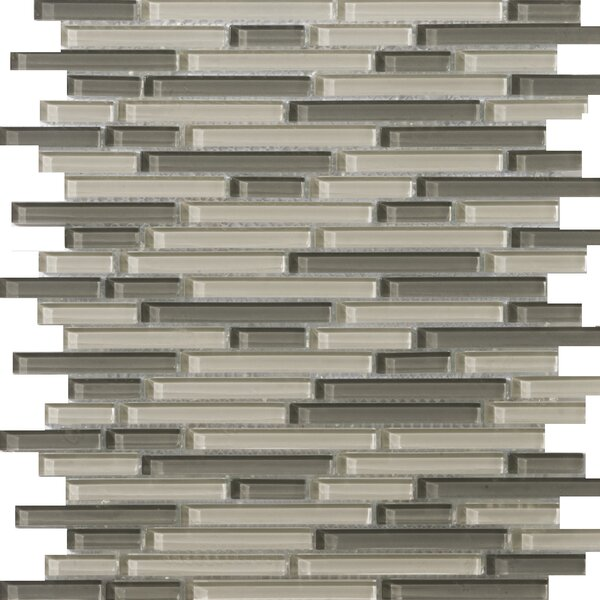 Lucente 12 x 13 Glass Linear Mosaic Tile in Pellestri by Emser Tile
