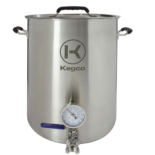3 Piece 10 Gallon Brew Kettle Set by Kegco