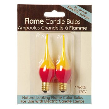 Fire Flame Electric Candle Lamp Replacement Light Bulb (Pack of 2) by Darice