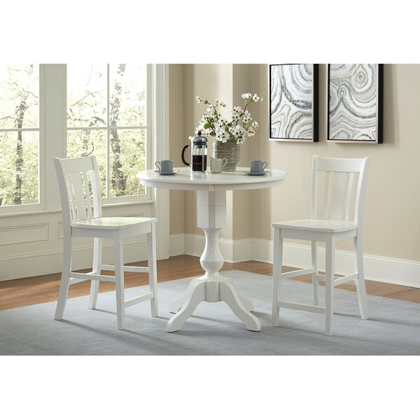 Reichel Round Top Counter Height 3 Piece Pub Table Set by Canora Grey Canora Grey