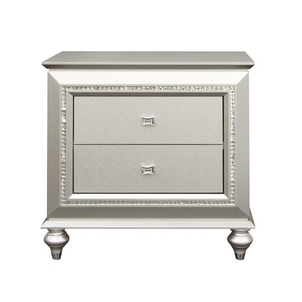 Kaitlyn 2 Drawer Nightstand by SunCityElegantLiving