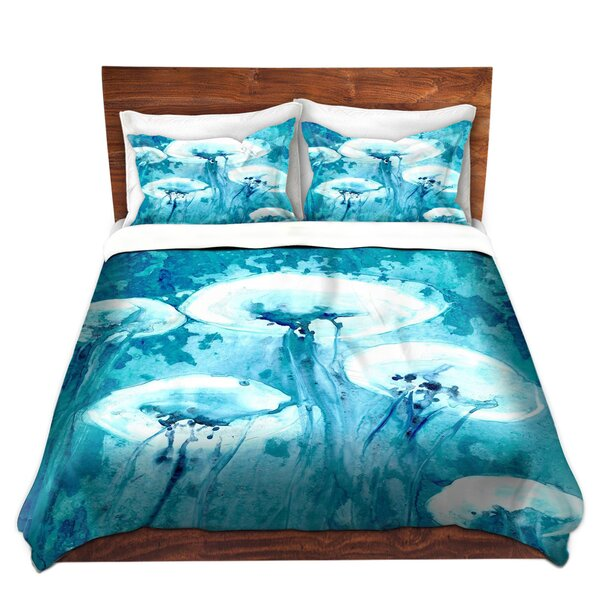 Luminous Jelly Fish Duvet Set by DiaNoche Designs
