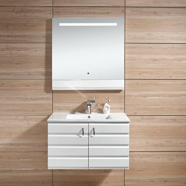 Johana 31 Wall-Mounted Single Bathroom Vanity Set with Mirror