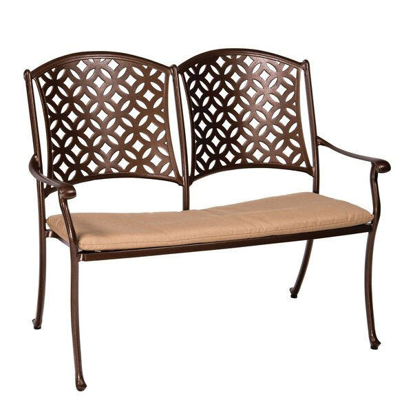 Casa Aluminium Garden Bench with Cushion by Woodard