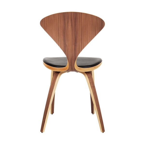 Weintraub Genuine Leather Upholstered Dining Chair by Brayden Studio