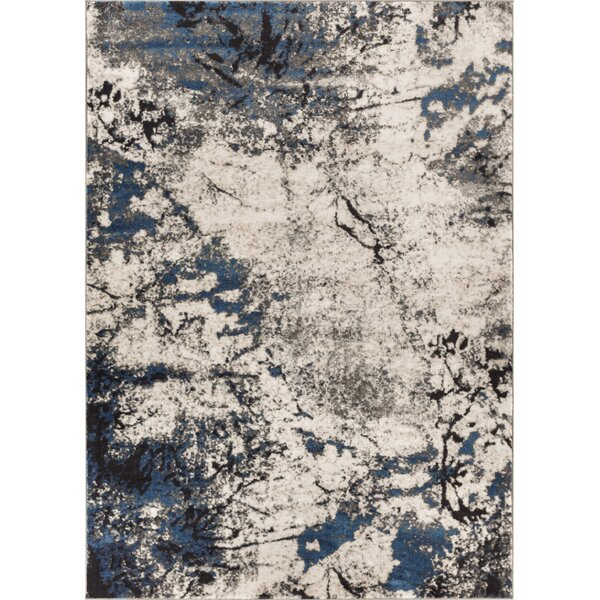 Emmi Blue/Gray Area Rug by Williston Forge