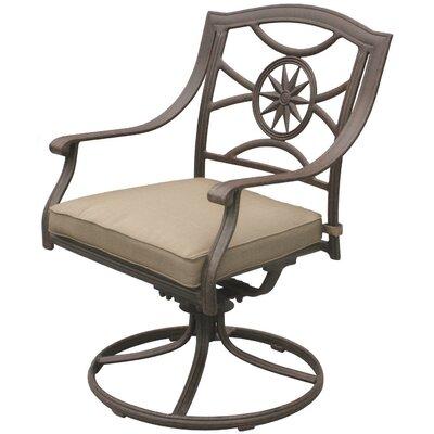 Lenzburg Swivel Patio Dining Chair Alcott Hill
