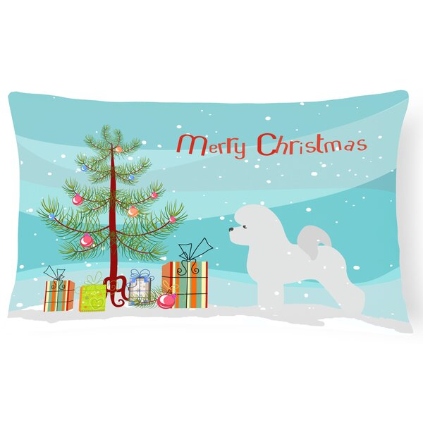 Bichon Frise Indoor/Outdoor Lumbar Pillow by The Holiday Aisle
