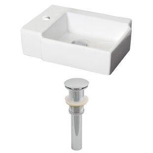 Reviews Ceramic Rectangular Vessel Bathroom Sink ByRoyal Purple Bath Kitchen