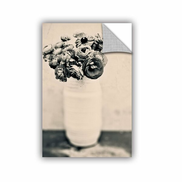 Black and White Ranunculus by Elena Ray Removable Photographic Print by ArtWall