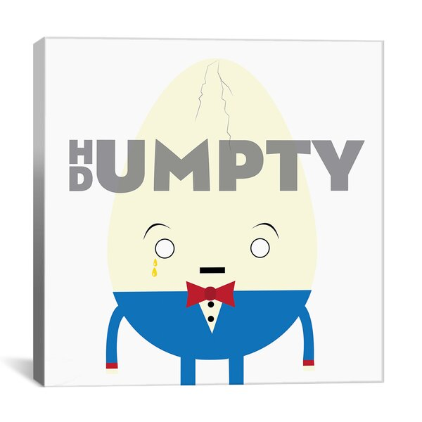 Kids Children Humpty Dumpty Graphic Canvas Wall Art by iCanvas