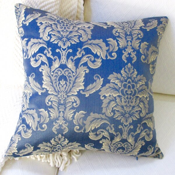 Morante in Bermuda European Damask Modern Indoor Pillow Cover by Artisan Pillows