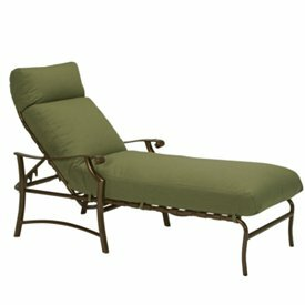 Montreux II Reclining Chaise Lounge with Cushion by Tropitone