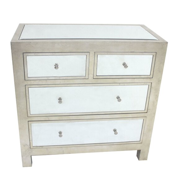 Reeser 4 Drawer Mirrored Accent Chest