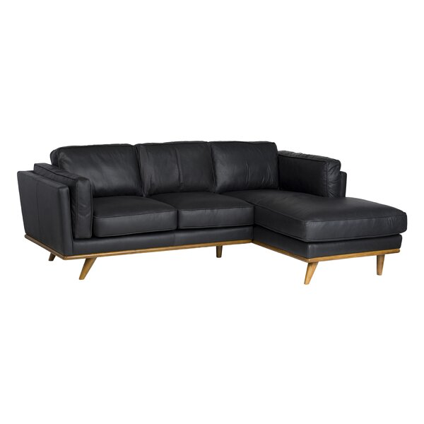 Cardinal Leather Sectional by Foundry Select