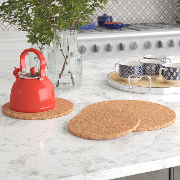 3 Piece Oval Cork Trivet Set by Andover Mills