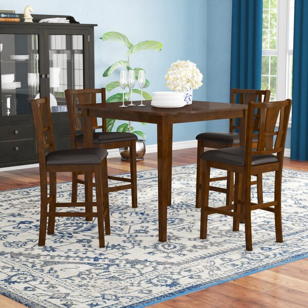 Geissler 5 Piece Counter Height Dining Set by Red Barrel Studio