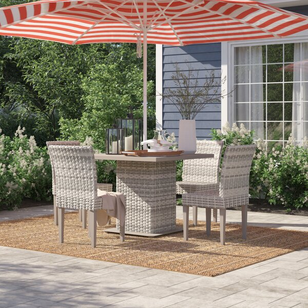 Falmouth 5 Piece Dining Set by Sol 72 Outdoor