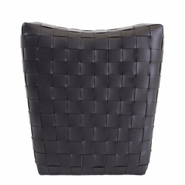 Free Shipping Dareau Leather Pouf Ottoman