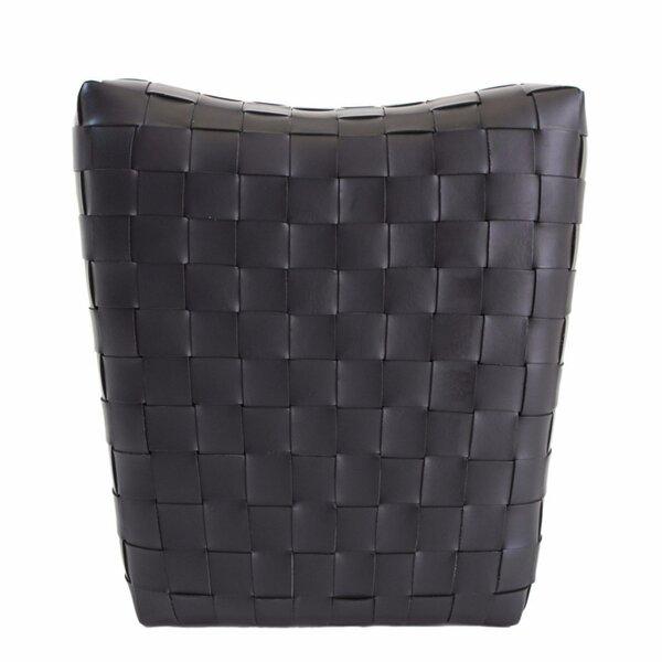 Home & Garden Dareau Leather Pouf Ottoman