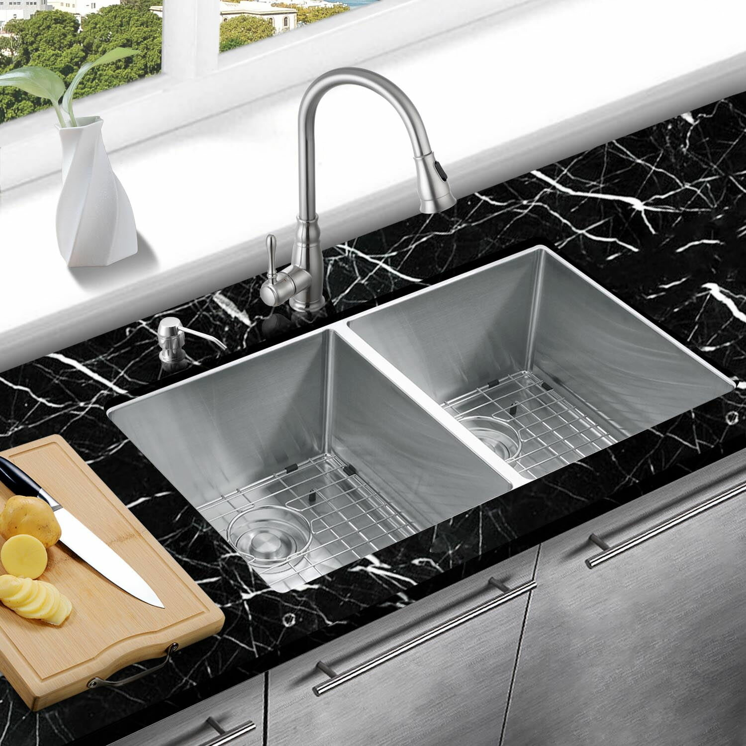 right sinkfaucet home appliances akdy kitchen sink undermount the your choosing cropped for