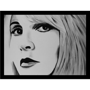 'Stevie Nicks' Framed Acrylic Painting Print on Paper by Buy Art For Less