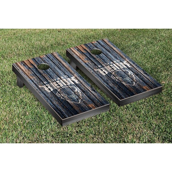 Howard HU Bison Banner Weathered Version Cornhole Game Set by Victory Tailgate