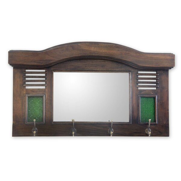 Joglo Teakwood Wall Mirror by Novica