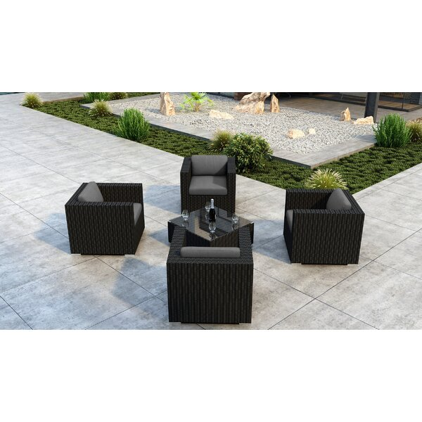 Glendale 5 Piece Sunbrella Sofa Seating Group with Cushion by Everly Quinn