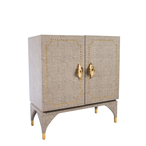 Feuille Studded Accent Cabinet by Statements by J