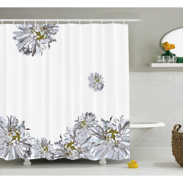Flourishing Summer Fusion Poppy Chamomile Purity Icons of Habitat Art Shower Curtain Set by East Urban Home