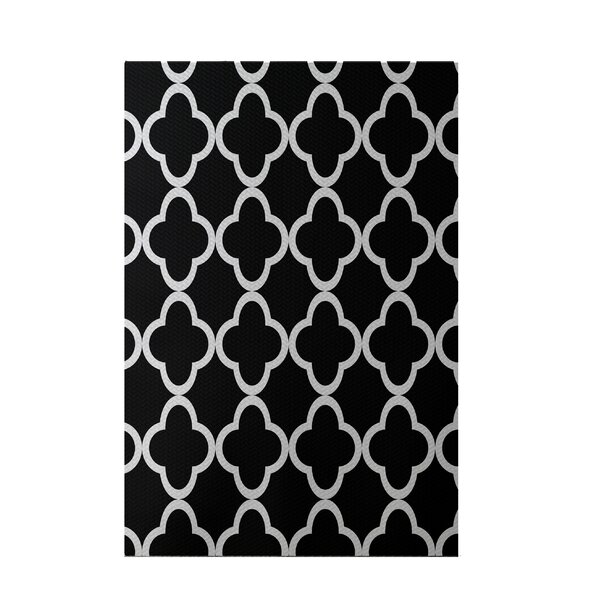 Marrakech Express Geometric Print Black/Silver Indoor/Outdoor Area Rug by e by design