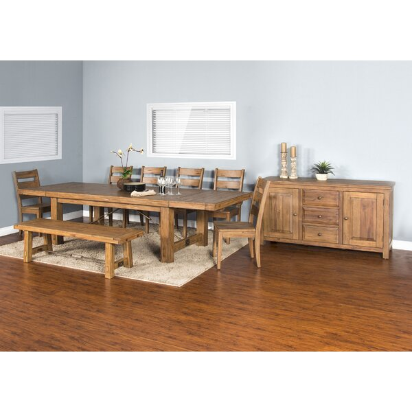 Joliette Dry Leaf 8 Piece Extendable Dining Set by Loon Peak