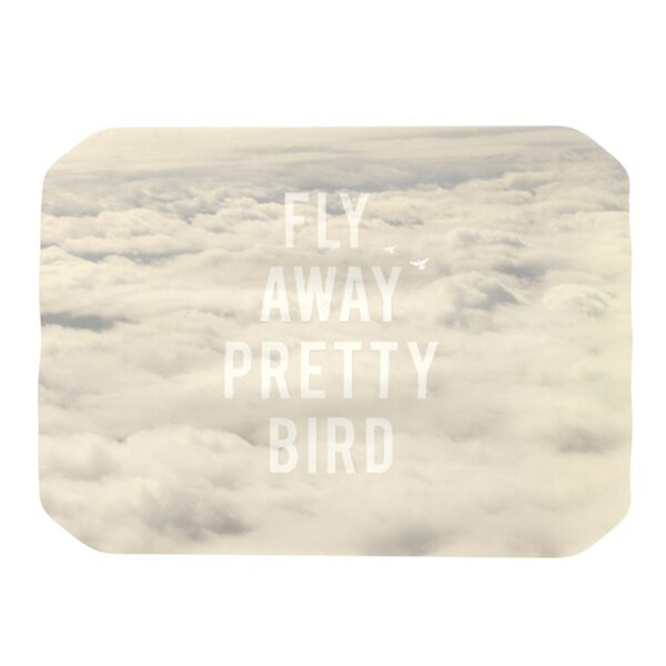 Fly Away Pretty Bird Placemat by KESS InHouse