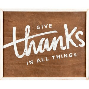 Give Thanks Textual Art by Glory Haus