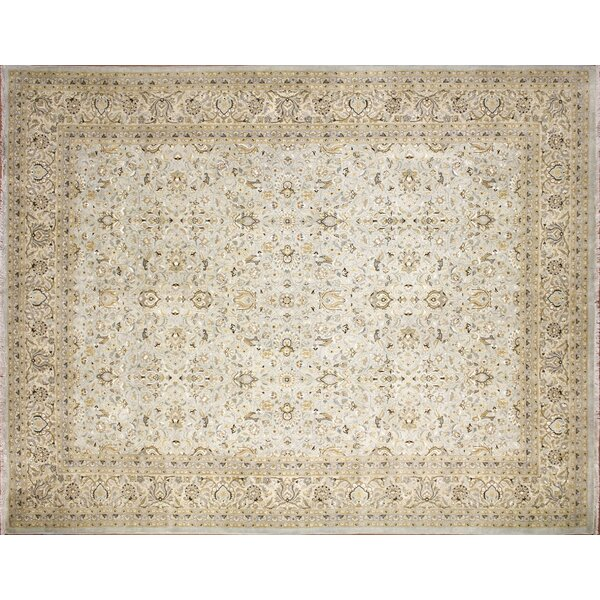 Ankara Behrooz Hand Knotted Wool Light Blue Area Rug by World Menagerie