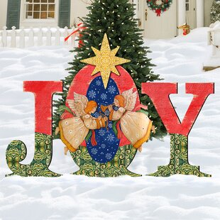 joy angel yard lawn art - Joy Outdoor Christmas Decoration
