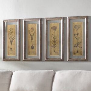 Blossom Sketch Framed Prints (Set Of 4)