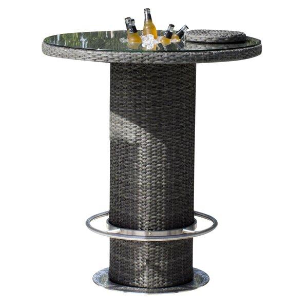 Saliba Glass Bar Table by Latitude Run Latitude Run