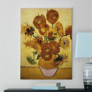 'Sunflowers' by Vincent Van Gogh Oil Painting Print on Wrapped Canvas by Red Barrel Studio